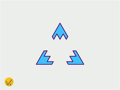 Triangle Process Dribbble Triangles Graphic Animation