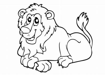 Lion Coloring Pages Printable Children Simple Colouring
