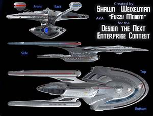 concept ships: Starship Enterprise concept by Shawn Weixelman