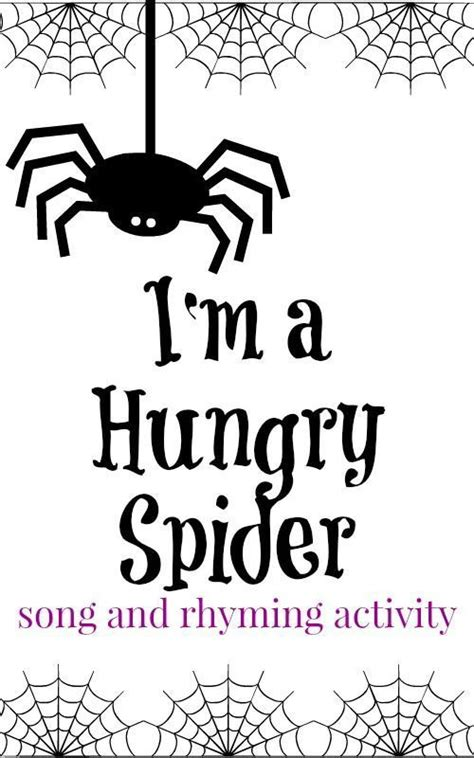 Preschool Songs: I'm A Hungry Spider | Preschool songs ...