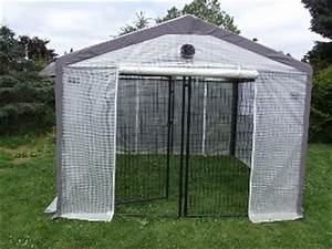 Turn your dog kennel into a greenhouse 10 x 10 for Ready dog kennel