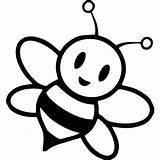 Coloring Bee Honey Template Bees sketch template