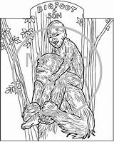 Coloring Printable Bigfoot Pages Sasquatch Yeti Colouring Template Etsy Foot Morian Drawings Footprints Monster Templates Designlooter Similar Items 713px 37kb sketch template
