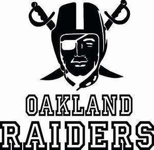 Oakland Raiders Football Logo & Name Custom Vinyl by ...