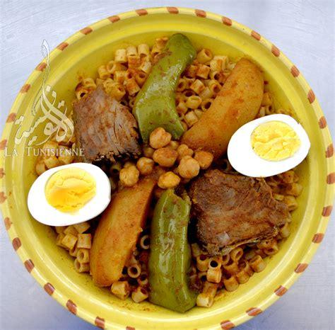 de cuisine tunisienne pâtes tunisiennes au poisson maqrouna salsa bel hout