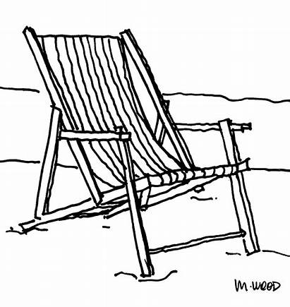 Chair Beach Clipart Wood Furniture Drawing Cliparts