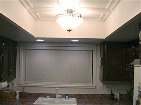 remodel flourescent light box  kitchen bing images