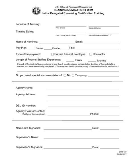 opm form 1674 edit fill sign online handypdf