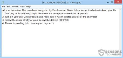 Zeroransom Virus Removal  Restore Z3r0 Files