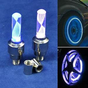 Bicycle Car Valve Caps Light Tyre Wheel light Neon LED