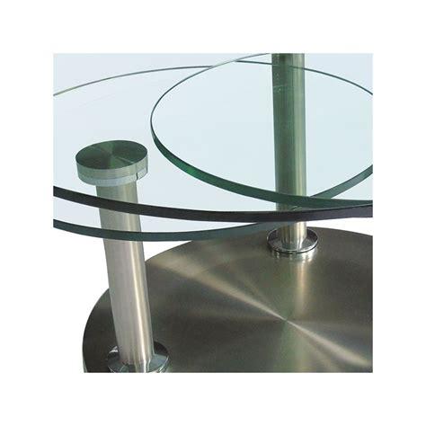 table de cuisine en verre trempé table basse articulée verre et métal trygo univers salon tousmesmeubles