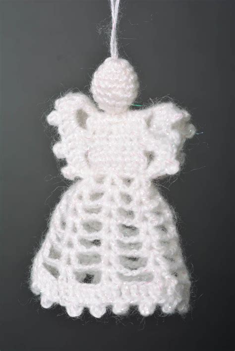 madeheart decoration de noel deco fait main ange tricot