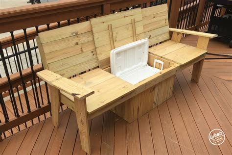 build    amazing cooler bench  wood  real wood  real