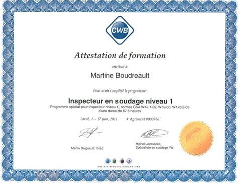 modèle attestation de formation certificat modele