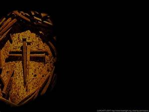 PowerPoint Background of Cross of Nails (left) — Heartlight®