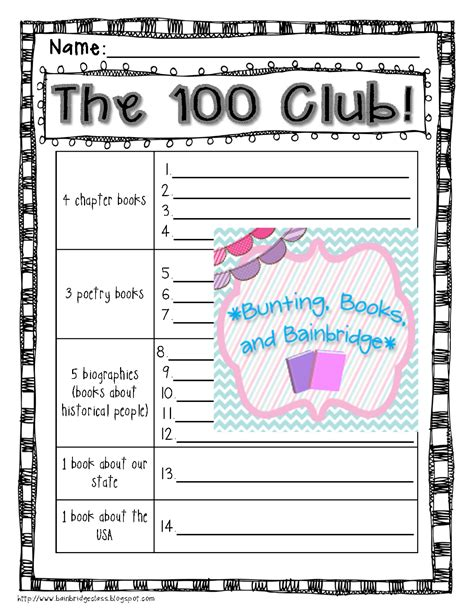 5th grade monthly reading log free printable reading