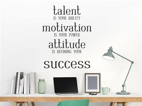 wandtattoo talent motivation attitude success wandtattoo de