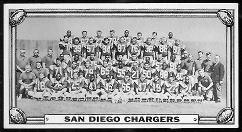 san diego chargers team  topps test team