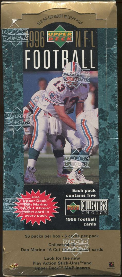 deck collectors choice 1996 1996 deck collector s choice football retail 96 pack