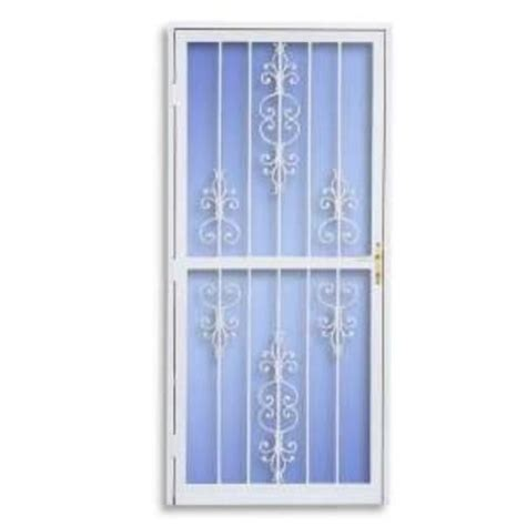 menards sliding patio screen doors american white fullview security screen door 36 quot x