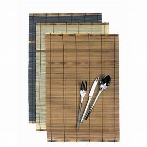 Set De Table Bambou : set de table bambou noire x 12 ~ Teatrodelosmanantiales.com Idées de Décoration