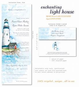 lighthouse wedding invitations on 100 recycled paper With wedding invitations with lighthouse