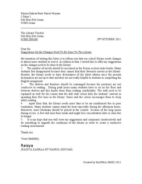 formal letter spm