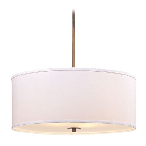 white drum pendant light large bronze drum pendant light with white shade ebay