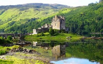 Eilean Donan Castle Scotland Wallpapers Castles Sunset