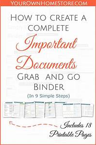 1000 ideas about binder storage on pinterest zombie With important documents binder printables