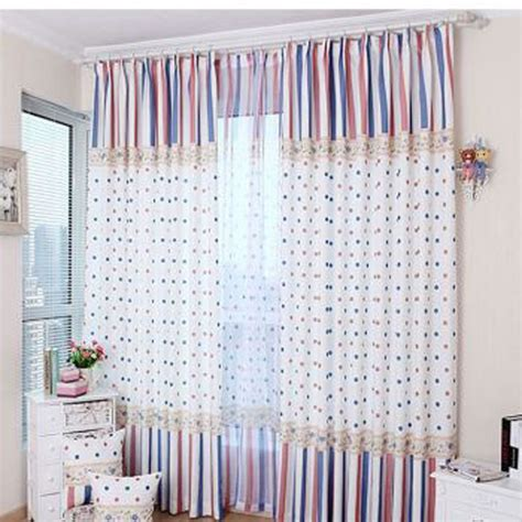blue and polka dot curtains decorate your house