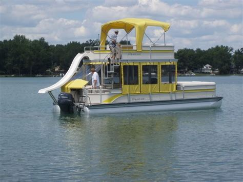 Pontoon With Upper Deck And Slide For Sale by Pontoon Boats With Upper Deck Bing Images Pontoon