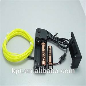 El Wire Flexible Neon Wire 3v Dc 12v Dc Battery Pack
