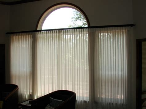 sheer fabrics drapery and decorative traverse rod