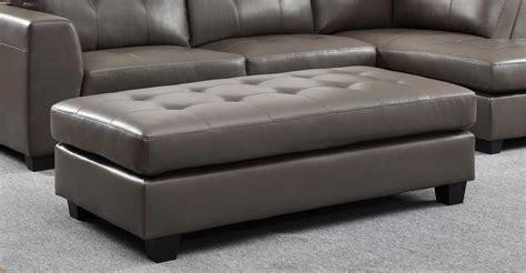 homelegance springer ottoman grey bonded leather match