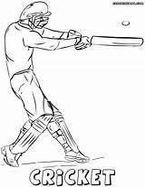 Cricket Coloring Pages Game Colorings sketch template