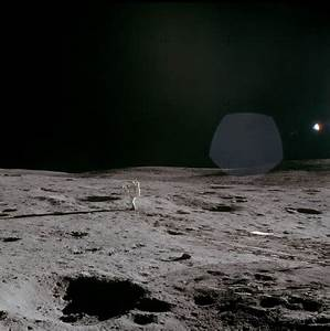 Apollo 14 astronaut on the Moon, February 1971. at Science ...