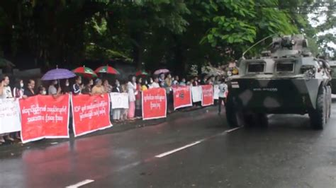 Myanmar Army Tanks Roll into Myitkyina as Kachin Activists ...