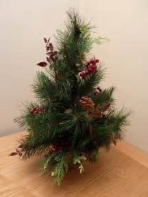 small tabletop green pre decorated artificial christmas tree desk decoration uk gardens co uk