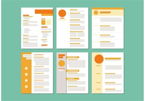 Curriculum Vitae Layout by Modelos De Layout Curriculum Vitae Vetores E