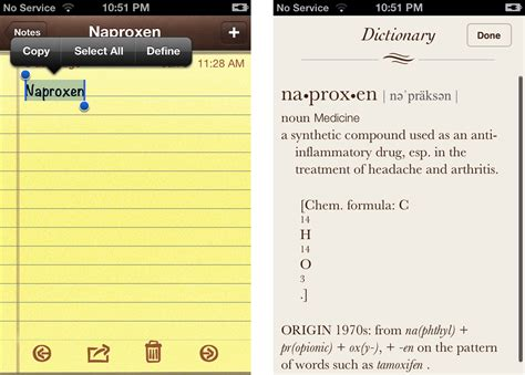 iphone notes app how to use the built in dictionary app in iphone 4s