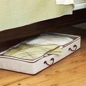 Boite De Rangement Sous Lit : bo te de rangement organisateur sous le lit en tissu stockage ~ Teatrodelosmanantiales.com Idées de Décoration