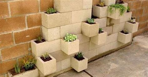 cinder block easy stack  flower bed awesome outdoor