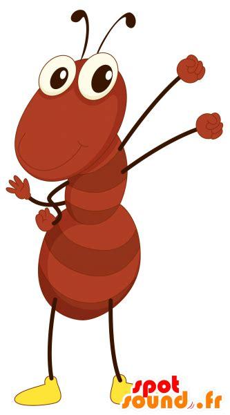 Brown Ant Mascot, Giant, Funny - Dancing Ant Cartoon ...