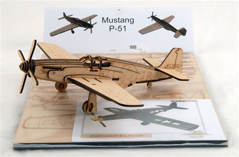 wood model aircraft kitset mustang p  air force museum