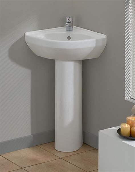 Pedestal Sink For Small Bathroom by Cool Corner Pedestal Sinks For Small Bathrooms Ideas For