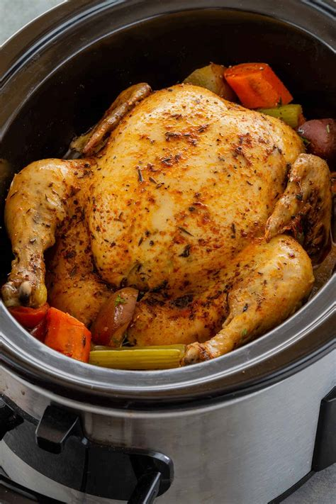 chicken slow cooker whole cooking delites cafe pot crock cook recipes cooked recipe roast crockpot rotisserie stuffed roasted gravy read