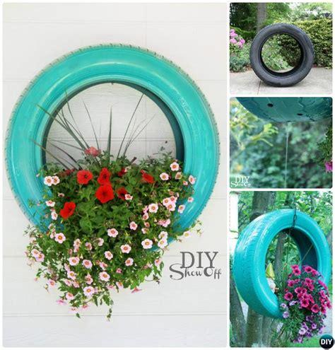 diy recycled tire planter ideas   garden