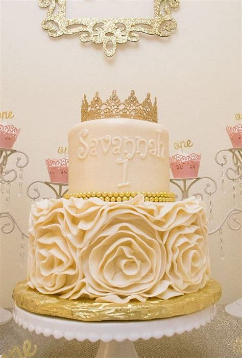 gold lace crown cake topper  featherriverboutique