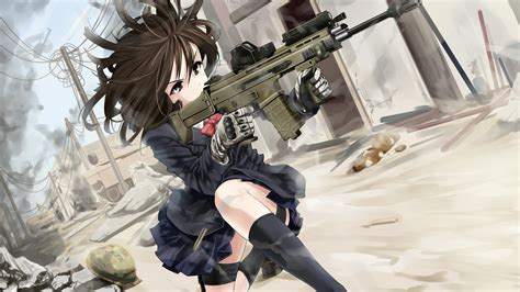 Anime With Gun Wallpaper - anime with guns wallpaper with 58 items